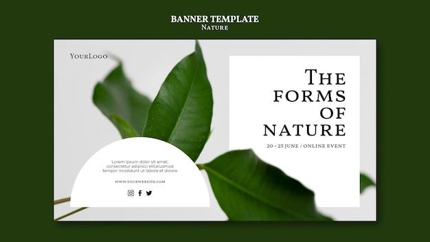 Modelo de banner de evento de formas da natureza