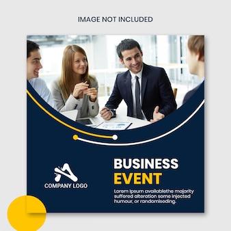 Modelo de banner de evento de negócios quadrados instagram corporativos