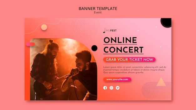 Modelo de banner de evento musical