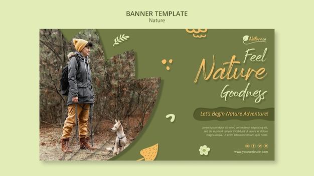 Modelo de banner de exploração da natureza