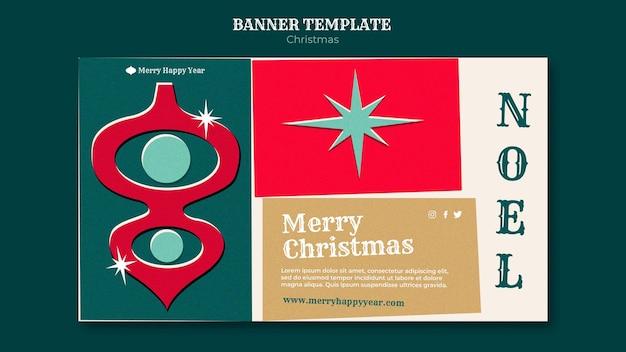 Modelo de banner de feliz natal