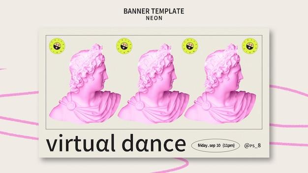 Modelo de banner de festa de néon