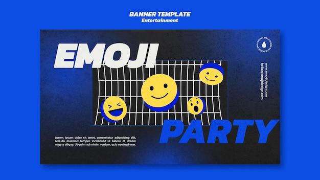 Modelo de banner de festa emoji