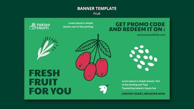 Modelo de banner de festival de frutas