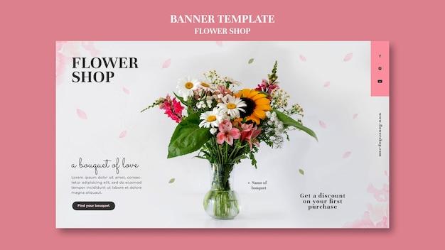 Modelo de banner de floricultura