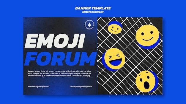 Modelo de banner de fórum de emoji Psd grátis