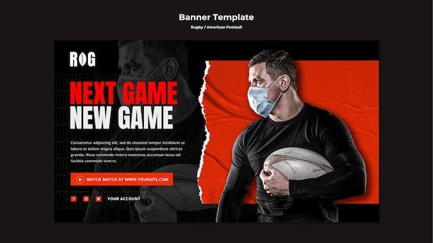 Modelo de banner de futebol americano