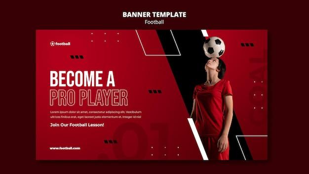Modelo de banner de futebol feminino