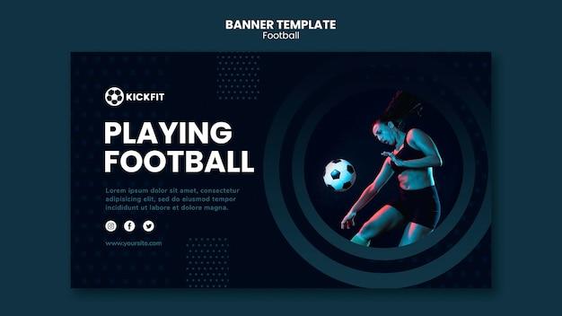 Modelo de banner de futebol