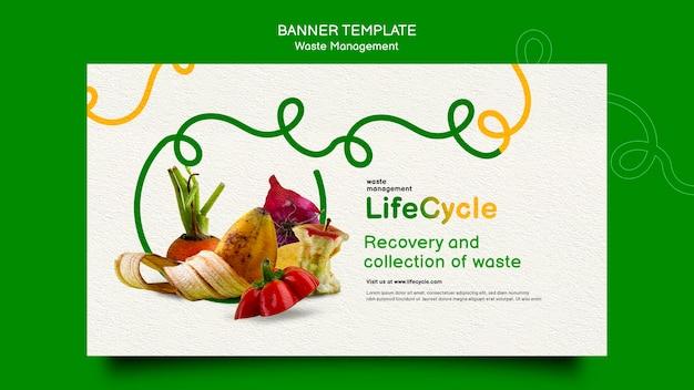 Modelo de banner de gerenciamento de resíduos