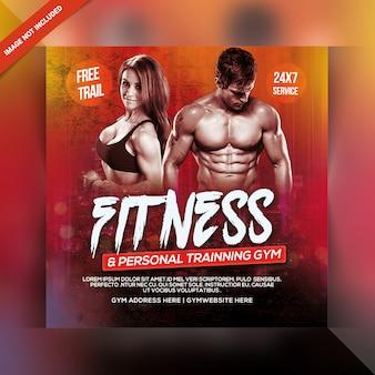 Modelo de banner de ginásio de fitness