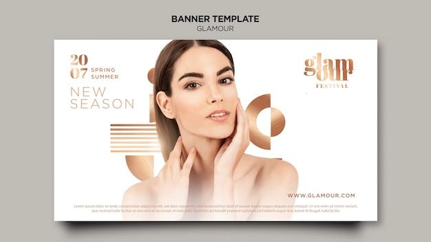Modelo de banner de glamour moderno