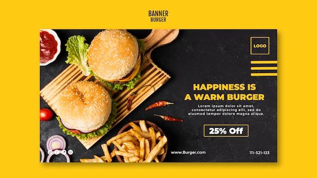 Modelo de banner de hambúrguer