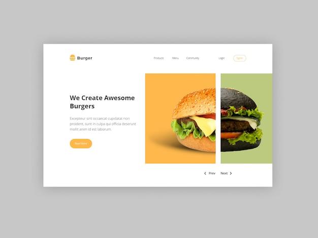 Modelo de banner de herói de hambúrguer