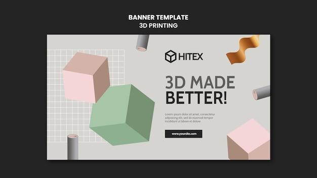 Modelo de banner de impressão 3d