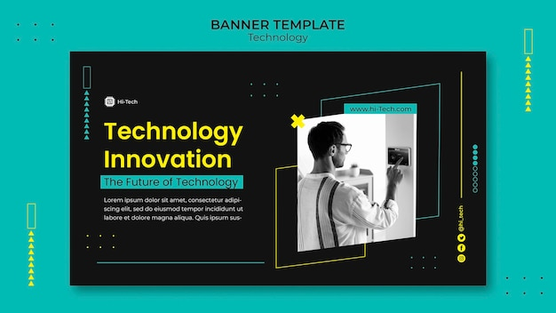 Modelo de banner de inovação digital