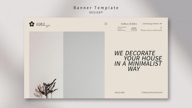 Modelo de banner de interior de design