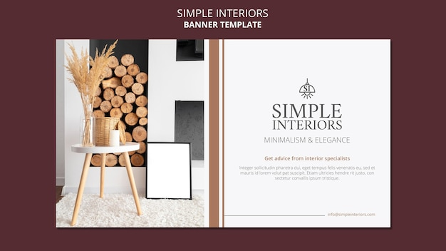 Modelo de banner de interiores simples