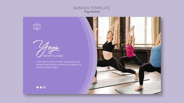 Modelo de banner de ioga
