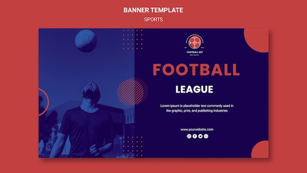 Modelo de banner de jogador de futebol
