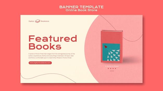 Modelo de banner de livraria online