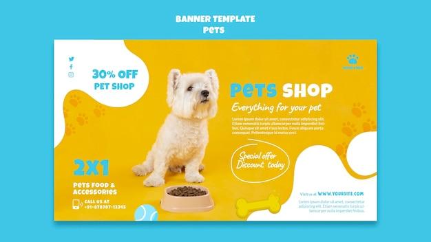 Modelo de banner de loja de animais de estimação