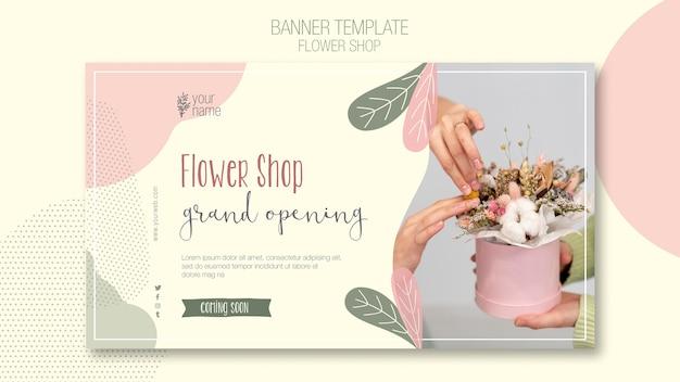 Modelo de banner de loja de flores
