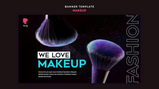 Modelo de banner de maquiagem