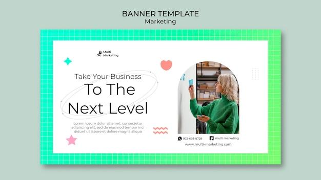 Modelo de banner de marketing de próximo nível