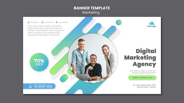 Modelo de banner de marketing digital