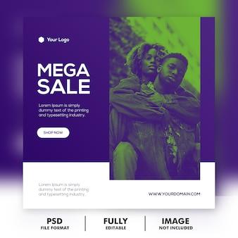 Modelo de banner de mega venda