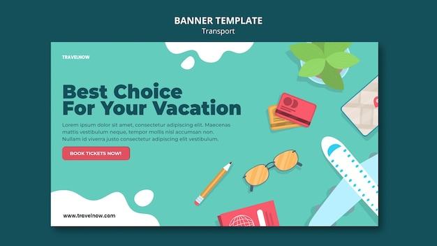 Modelo de banner de melhor escolha de férias