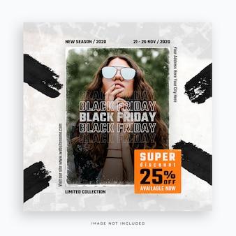 Modelo de banner de mídia social black friday