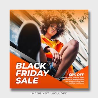 Modelo de banner de mídia social da black friday