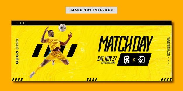 Modelo de banner de mídia social de dia de jogos de futebol