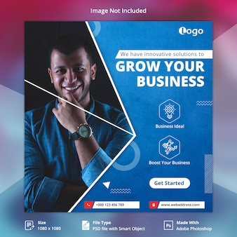Modelo de banner de mídia social de negócios