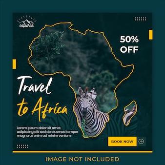 Modelo de banner de mídia social de viagem