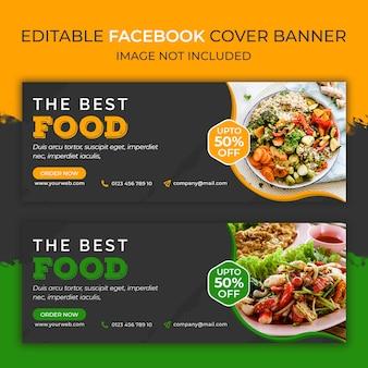 Modelo de banner de mídia social do facebook comida bast