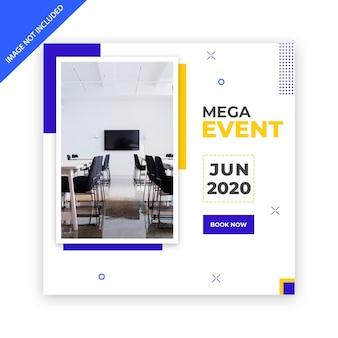 Modelo de banner de mídia social para conferência de negócios