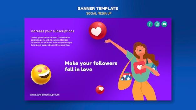 Modelo de banner de mídia social
