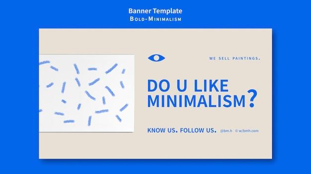 Modelo de banner de minimalismo em negrito
