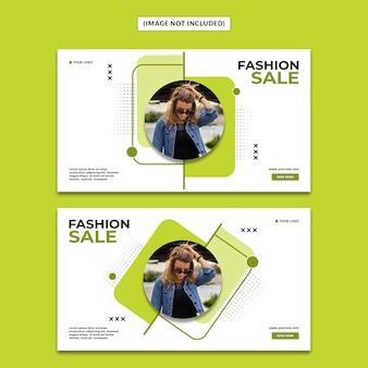 Modelo de banner de moda