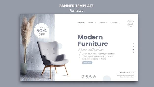 Modelo de banner de móveis