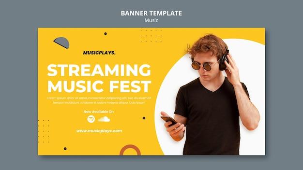 Modelo de banner de música para todos