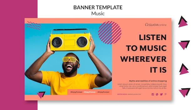 Modelo de banner de música