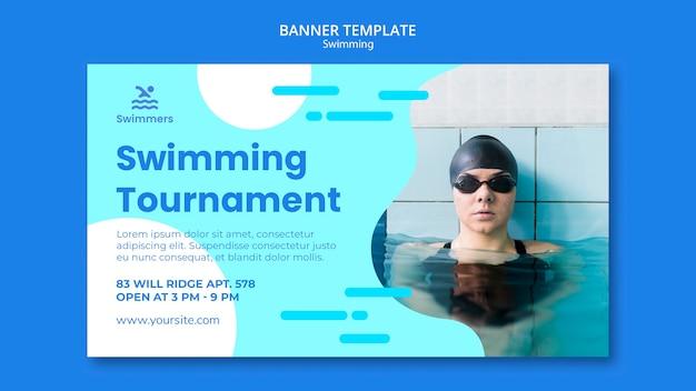 Modelo de banner de natação