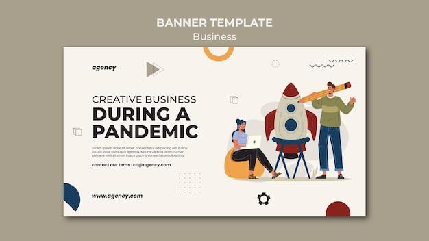 Modelo de banner de negócios criativos