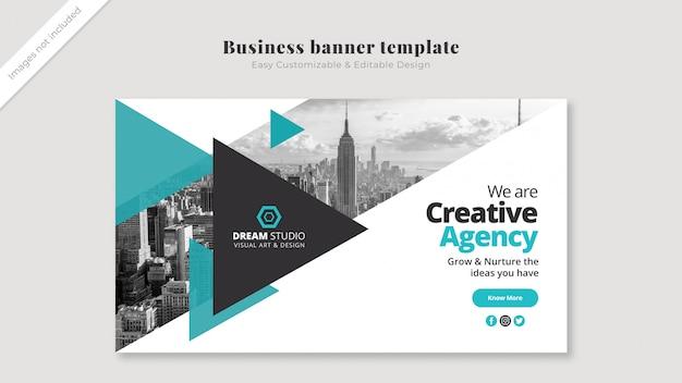 Modelo de banner de negócios