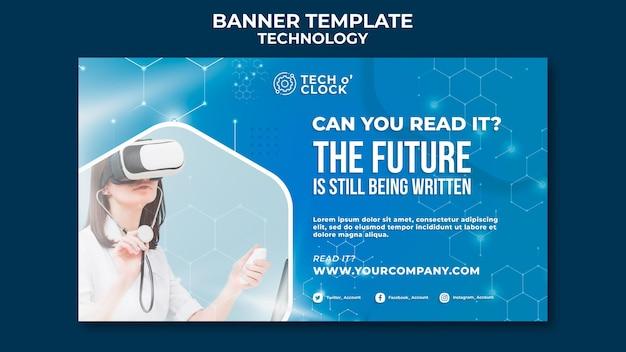 Modelo de banner de óculos de realidade virtual