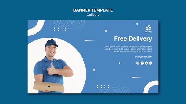Modelo de banner de oferta de entrega gratuita